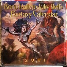 Boris Vallejo & Julie Bell / 2001 Fantasy Calendar / Still Sealed! Perfect!