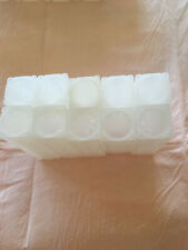 LOT OF 30 ASSORTED USED WHITE COIN SAFE SQUARE TUBES  (T89) 50C, 25C, 10C, & 1C