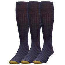 Gold Toe Men's Windsor Wool-Blend Over-the-Calf Dress Sock, 4 Colors, 3 Pairs