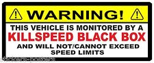 THIS VEHICLE IS BLACK BOX MONITORED WARNING CAR STICKER YOUNG DRIVER SPEED LIMIT