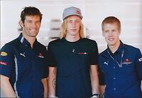 Brendon HARTLEY Signed 12x8 Webber Vettel Photo Autograph AFTAL COA