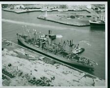VINTAGE 8X10 PHOTO NAVY USNS PROVO SHIP BOAT OKINAWA