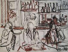 "RICARD ANNE  -DESSIN ORIGINAL -ENCRE -                     ""LE DORIAN """