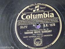 "78rpm 12"" HARRY DAVIDSON dashing white sergeant / progressive barn dance dx1576"