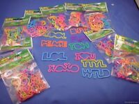 WHOLESALE LOT of  240 SILLY BANDS  PHRASES TEXT BANDZ  LOL jewelry rubber