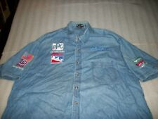 be8169117 TRISTAR MOTORSPORTS IRL RACING TEAM BUTTON SHIRT SIZE XL OLDSMOBILE STP  GOODYEAR
