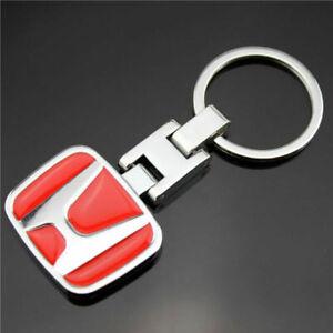 Metal Keyring Car Logo Key Chain Fobs for Honda GK5 Accord Civic