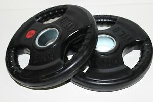 """15% OFF Pair 2.5kg/ 5kg Olympic 2"""" Tri Grip Rubber Coated Weight Plates"""