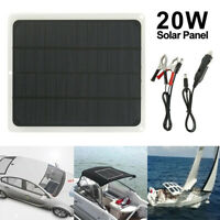 20W Solar Panel 12V Trickle Charge Battery Charger Kit Maintainer Marine Boat TP