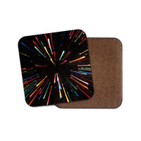 Awesome Light Glares Coaster - Long Exposure Colourful Fireworks Fun Gift #12818