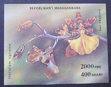 Blocco orchidee del Madagascar 1993
