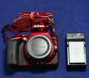 Nikon D D5500 24.2MP Digital SLR Camera - Red (Body Only)