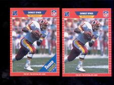 1989 Pro Set EARNEST BYNER Washington Redskin Card Both Variations Traded Stripe