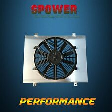 Aluminum Radiator Fan Shroud + 120W Fan For Holden Commodore VL RB30 6cyl 86-88