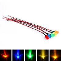 Pre-Kabel LEDs 3/5/8/10mm Diffused 12V Various Farbe PreKabel Light Emitting T4