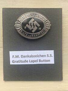 German WW2 SS Donation Lapel Badge - RARE!