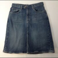 Calvin Klein Stretchy Front Slit Denim Skirt Sz 2