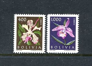 Bolivia 460, 462, MNH,1962, Flowers Orchids 2v x27627