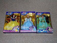 1994 Mattel Barbie Disney Special Sparkles Lot of 3 Dolls MIB Snow White More