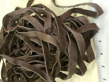 """Cowhide Leather Lace-7/8"""" X 19'-2 pieces-Brown Color-Strong and Durable!"""