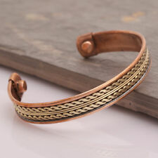 Strong Magnetic Copper Bracelet Healing Bio Therapy Tibetan Pain Relief Cuff