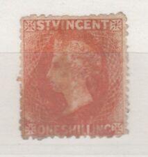 St Vincent QV 1875 1/- Claret Mint No Gum 9197