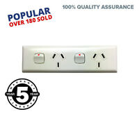 Narrow Skirting Double GPO Power Point For Generators Electrical Switch 10 amp