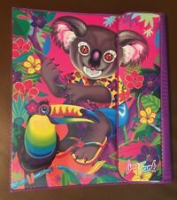 Rare Vintage 1990s Lisa Frank Tropical Koala Bear Trapper Keeper Binder