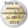Tutte le monete commemorative da 2 Euro 2019