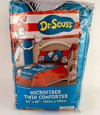 Dr Suess Twin Comforter Bedding Red Blue White