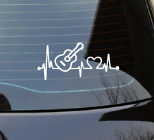 Acoustic Guitar Heartbeat Lifeline Monitor Decal Sticker Decal Vinyl Sticker