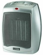 Small Office Space Heater Ceramic Compact Room Home Adjustable Thermostat Fan