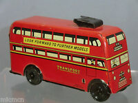 "VINTAGE WELLS BRIMTOY CLOCKWORK  ""POCKET TOY""  MODEL No.516    ""TROLLEY BUS """
