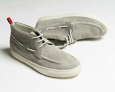 Kiton NIB Gray Suede Leather Mid-Top Chukka Boots Dock Shoes 8.5 US
