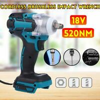 High Torque 520NM Impact Wrench Brushless Cordless Replacement For Makit Battery