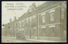 1913 Royal Hotel Sutton Coldfield Warwickshire Advertising Postcard B154