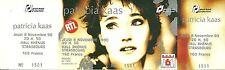 RARE / TICKET DE CONCERT - PATRICIA KAAS A STRASBOURG - 8 NOVEMBRE 1990