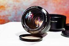 Minolta MC ROKKOR-PF 85mm F1.7 Lens w/Hood and Soft Case