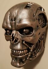 T- 800 terminator 2 cyborg head movie collectable WALL HANGER copper