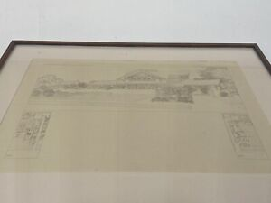 1910 Frank Lloyd Wright Wasmuth Portfolio Signed Blindstamp 1st Ed Tafel XXIII