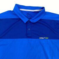 Nike Golf Texas Cup 2018 Polo Shirt Men's Large Short Sleeve Blue Poly Blend