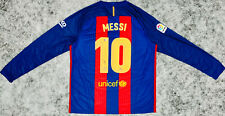 Barcelona Lionel Messi Signed Soccer Jersey Long Sleeve Beckett BAS Autographed