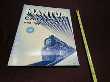 1948  MANTUA CATALOGUE & HANDBOOK, HO Model RR Equipment, &c. - VG+ 48pp