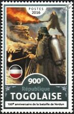 WWI Battle of Verdun / German Army FLAMETHROWER (Flammenwerfer) Weapon Stamp