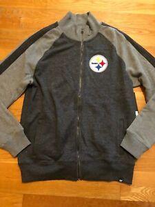zipperfront sweatshirt nwt sz m 47 brand Medium Pittsburgh Steelers