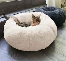 For Dog–Cat Bed Cushion Bed Faux Fur Donut Cuddler and Improved Sleep – Machine