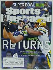 Seattle Seahawks Green Bay Packers Sports Illustrated Magazine Superbowl RARE!