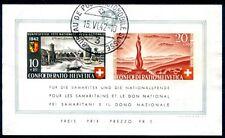 SCHWEIZ 1942 BLOCK7 gestempelt TADELLOS 300€(D4602