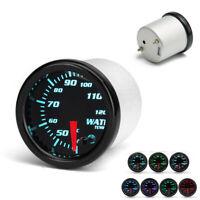 """2"""" 52mm 7 Colors LED Car Water Coolant Temperature Temp Meter Gauge w/ Sensor"""