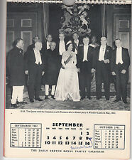 Daily Sketch Royal Family Calendar 1961